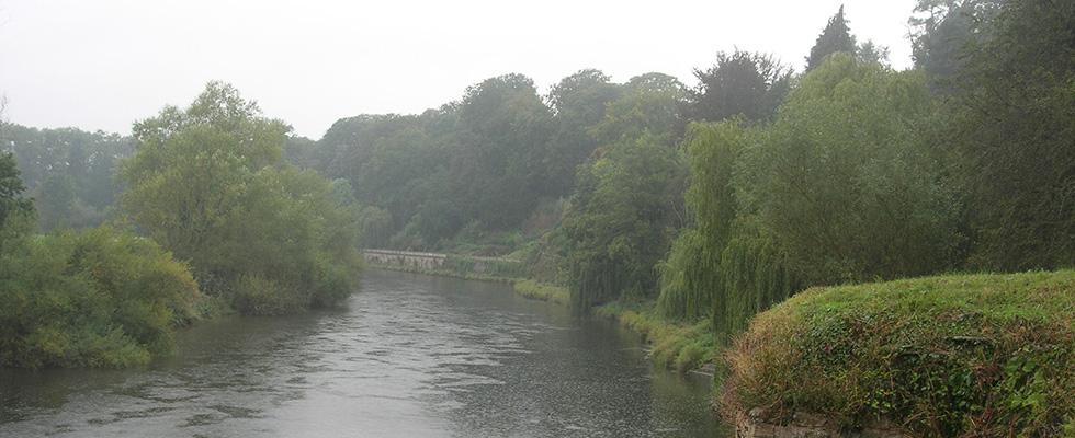 Roman remains near Wye